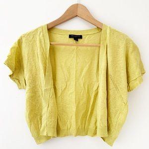 Banana Republic Lime Green Linen Shell Sweater